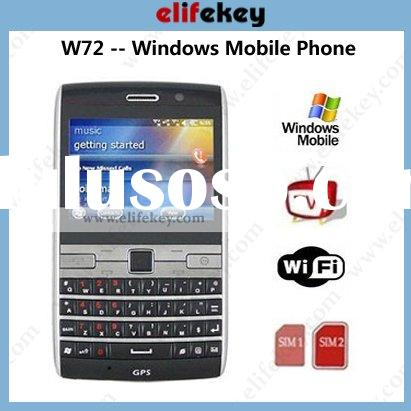 MFU W72 Qwerty Dual sim Wifi TV GPS 3g dual sim windows mobile