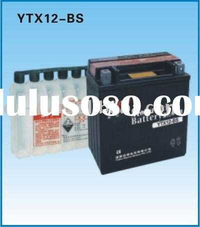 MF Motorcycle battery,Wet Dry Charge Motorcycle battery YTX12-BS