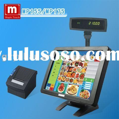 """Mapletouch 15"""" LCD POS Touch Screen Monitor with VDF customer display,thermal printer"""