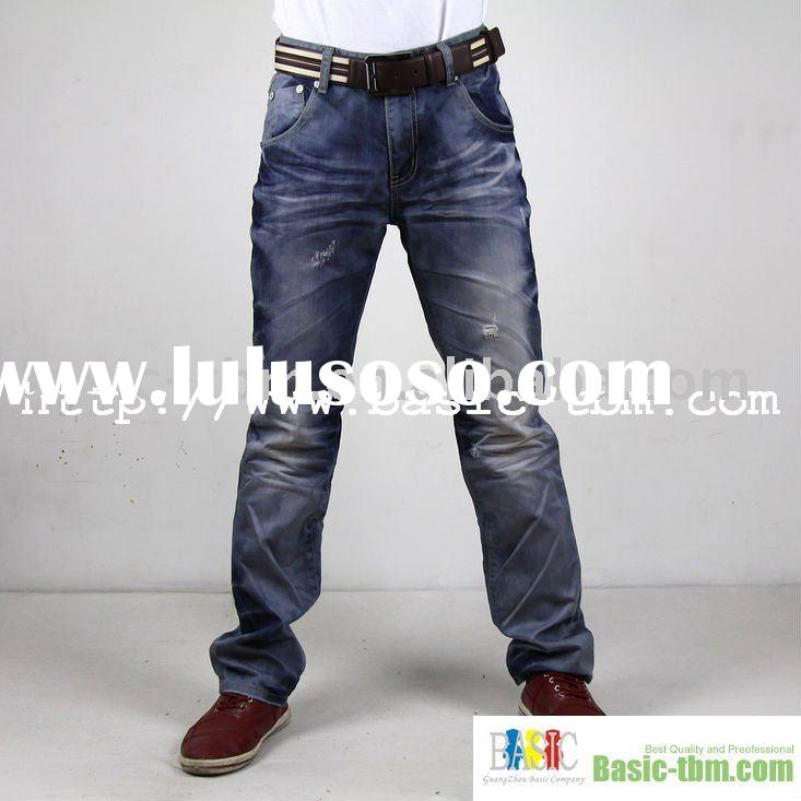 Men Latest Design Jeans Pants With Superior Wash