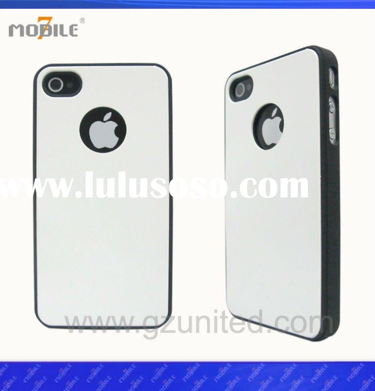 Mobile 7 phone case with leather stick for iphone4
