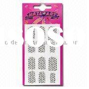 Nail Art Sticker, Available in Various Colors, Customized Designs and Logos are Accepted