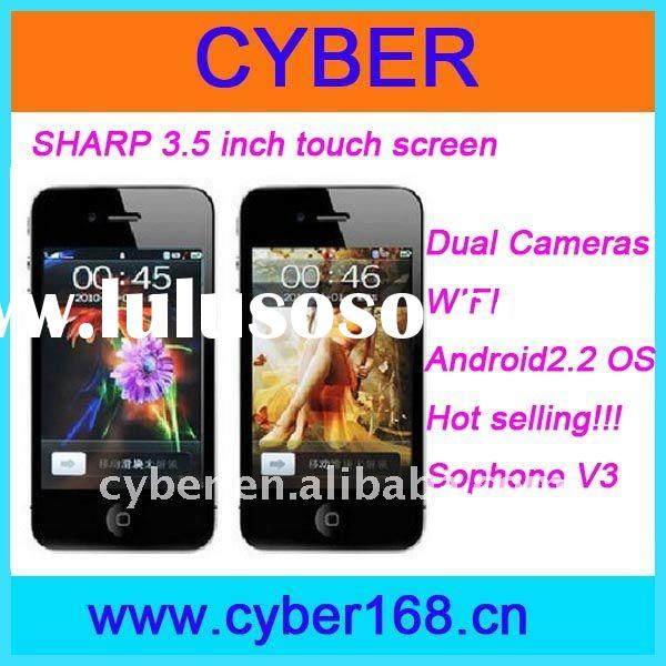 New fashion mobile phone for Sophone V3 with 4G 3.5 inch Multi-Touch Capacitive screen,WIFI
