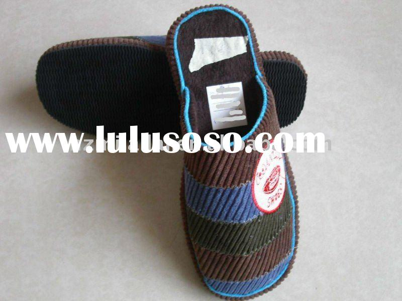 Newest men /women soft fabric indoor slipper