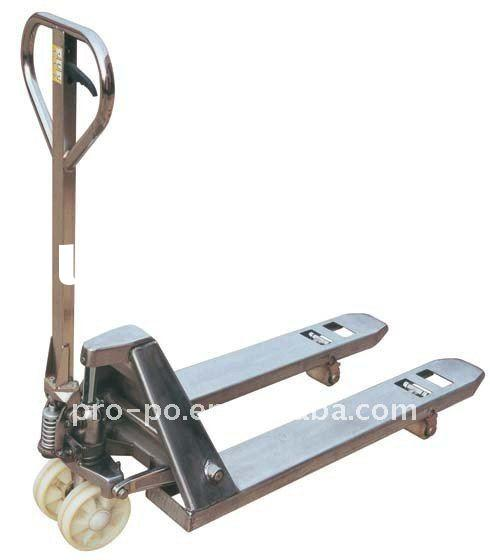 Stainless Steel Hand Jack : Kg ce hydraulic stainless steel hand pallet jack for