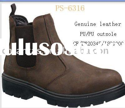 PU outsole ankle safety boots /work boots