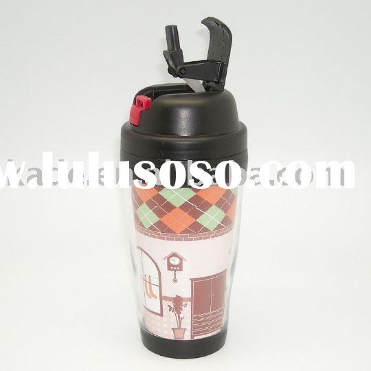 Plastic tumbler with straw