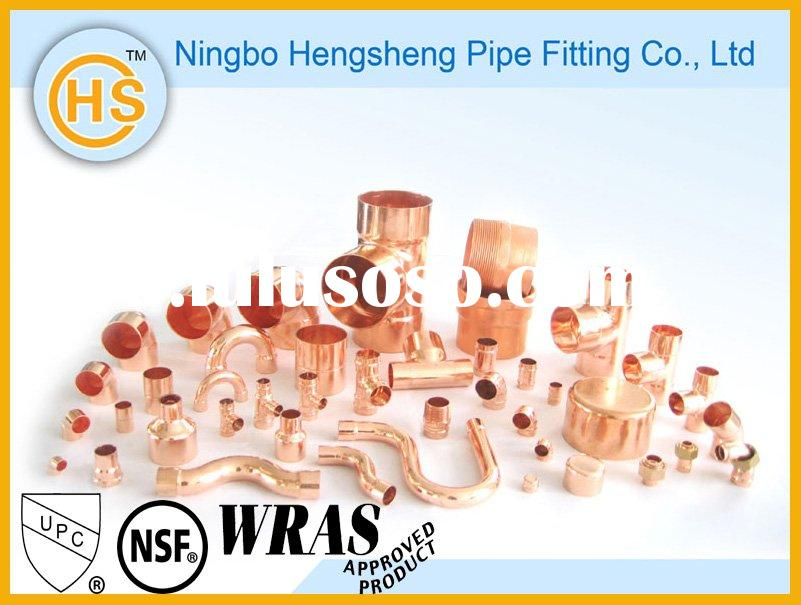 Plumbing Red Copper Pipe Fittings