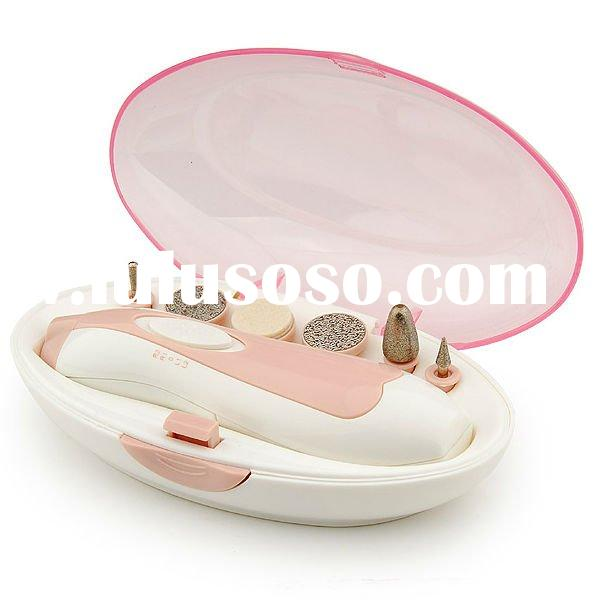 Professional manicure/pedicure set with 2AAA battery operated