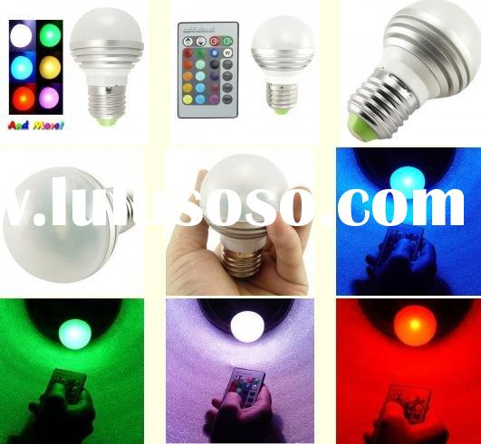 RGB Color Changing LED Light Bulb With Remote Control
