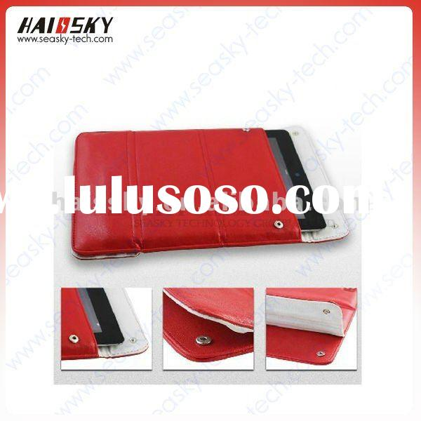 Red leather case for ipad 2
