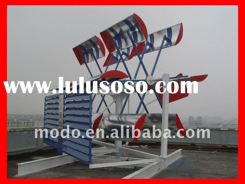 Roof horizontal wind power complete system