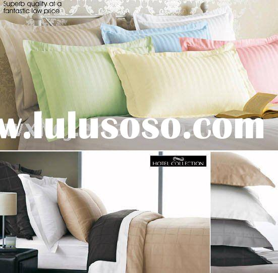 SOLID COLOR COTTON STRIPE PILLOW WITH POLYESTER FILLING