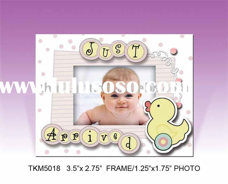 Scrapbook style mdf fridge magnet photo frame,magnets for fridge printing paper cover