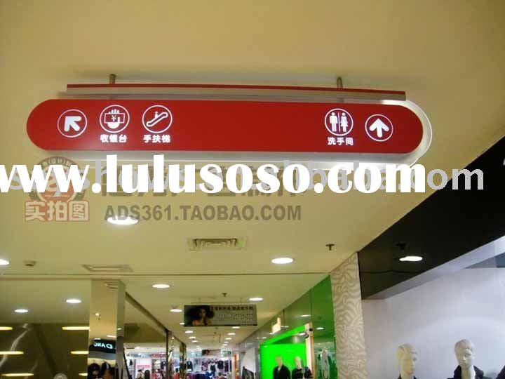 Shopping mall direction guide sign, LED light box, double sided, poster changeable