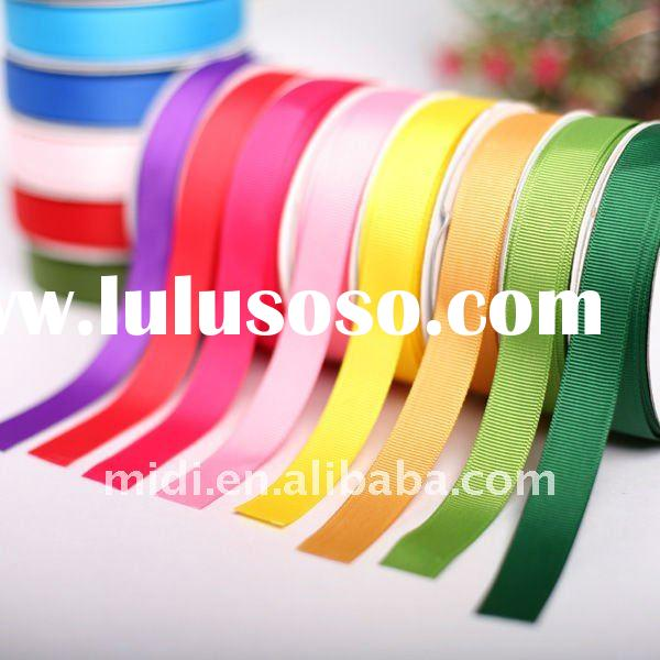 Solid color Polyester Grosgrain Ribbon