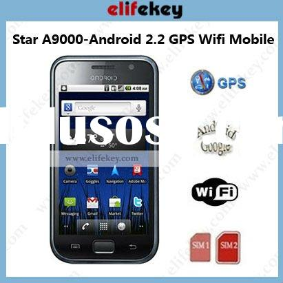 Star A9000 Capacitive Dual sim GPS WiFi android mobie phone
