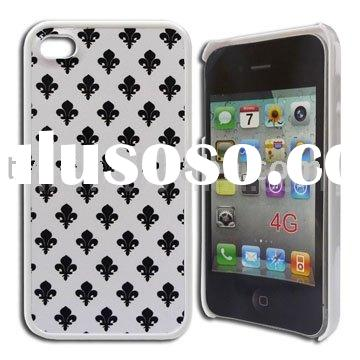 Stylish Bud Pattern Hard Plastic Cover Case For iPhone 4