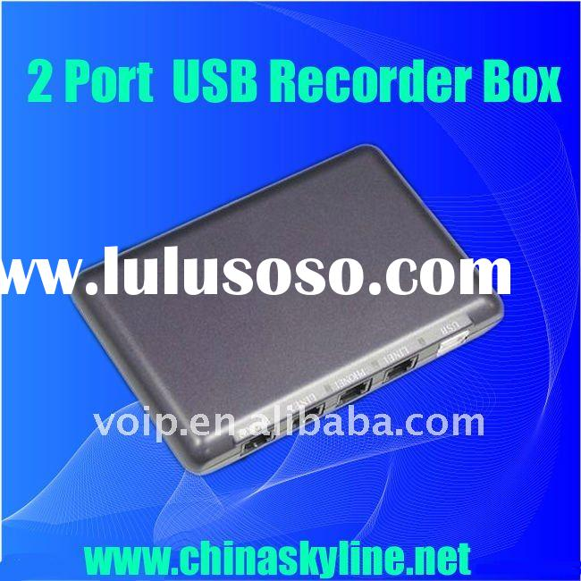 Supply 2 line usb telephone voice recorder, support windows 2000,XP,vista
