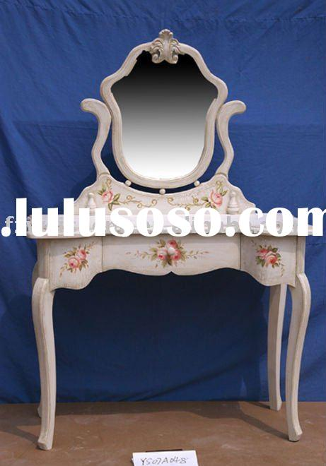 Victorian Antique White Wooden Dressing Table