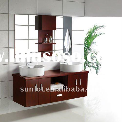 Wall mounted bathroom cabinet bathroom fitting with double bowls(LD31400)