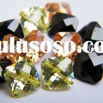 Wholesale Black Checkerboard Cut Cubic Zirconia
