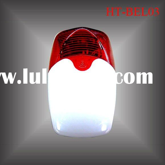 Wireless Strobe Light Siren with Outdoor Installation and Built-in Backup Battery