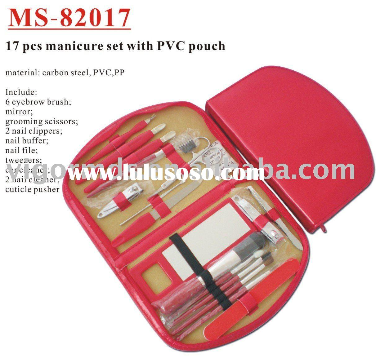 (MS-82017) 17 Pcs Manicure Set /Pedicure Set with PVC Pouch