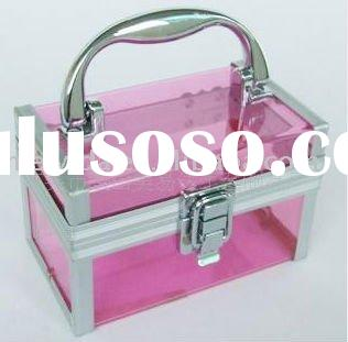 color acrylic makeup box