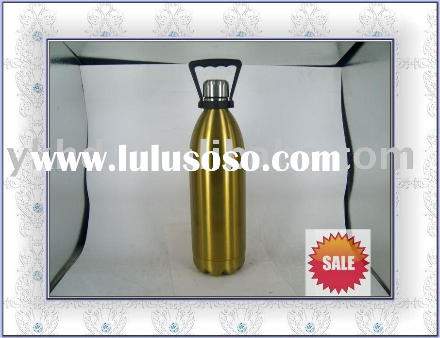 double wall Insulated Sports Bottles&Eco Vessel Vacuum Sealed Silver yoga Bottle Stainless Steel