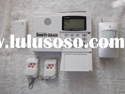 economic 90 zone LCD display wireless home alarm system with CE