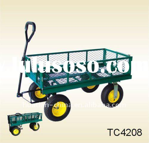 garden cart,3)Iron net can be locked and opened. The whole cart can be folded.