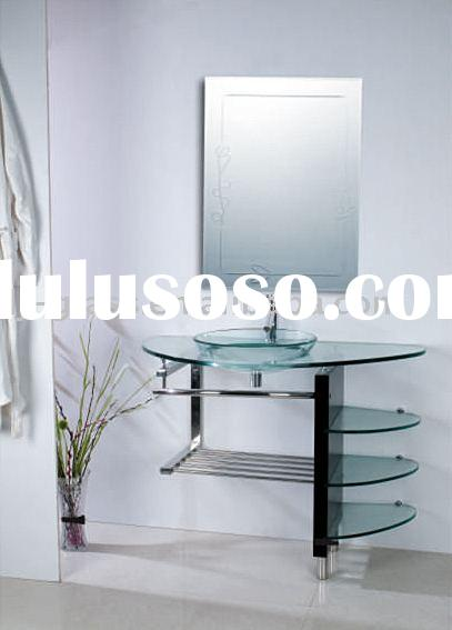 glass basin, glass cabinet, bathroom -BoA
