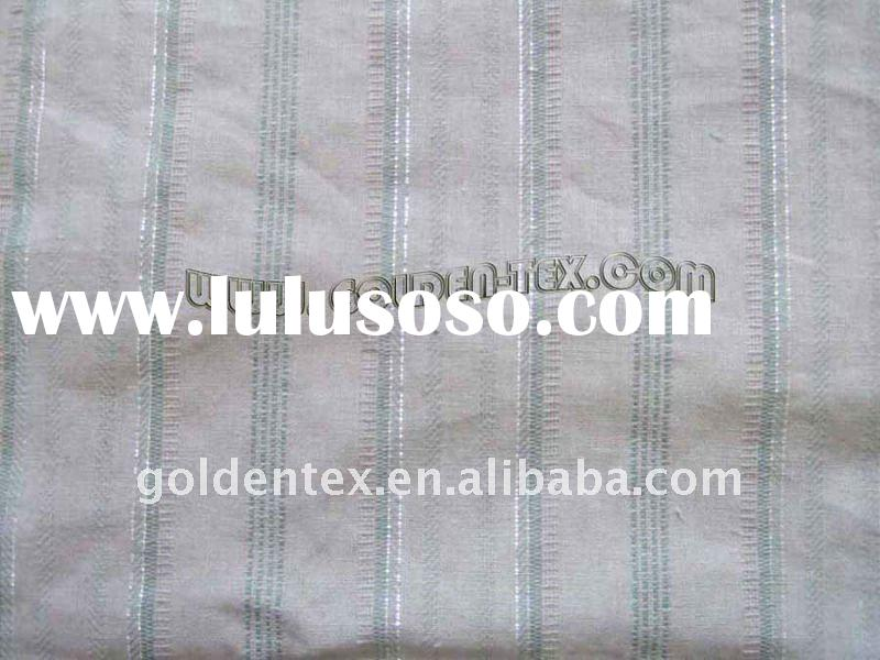high quality linen cotton yarn dyed fabric for garment(15s*15s)