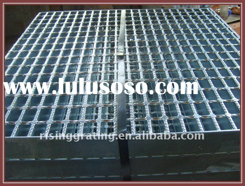 hot dipped galvanized welded serrated shape steel grating