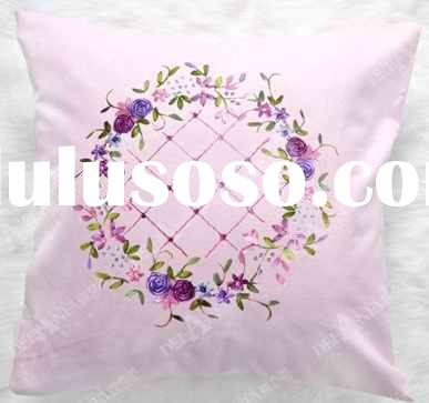 hot selling hand embroidery pillow