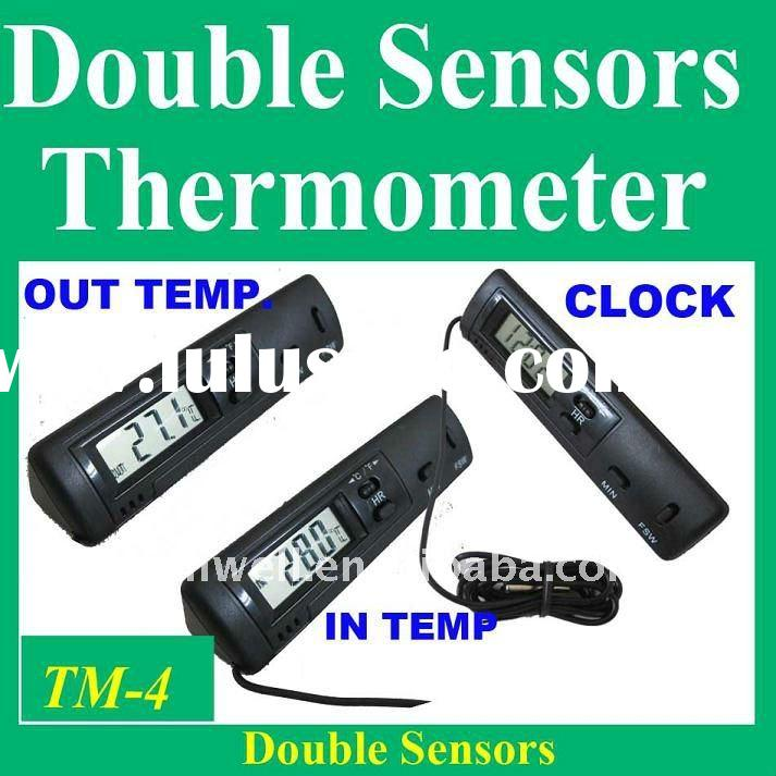 indoor outdoor car thermometer digital LCD display
