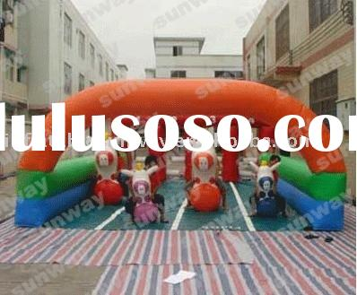 inflatable race track, inflatables horse riding