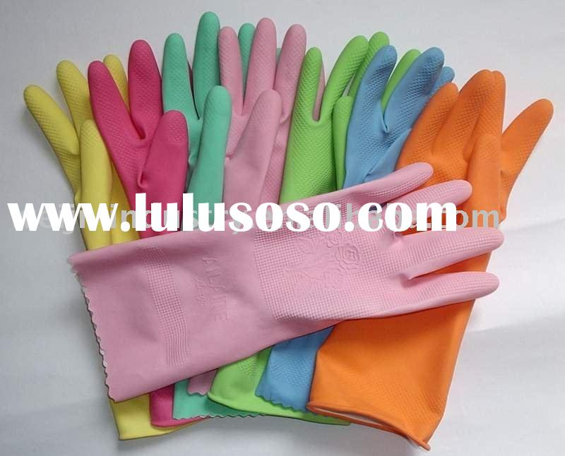 kitchen latex household gloves of different color
