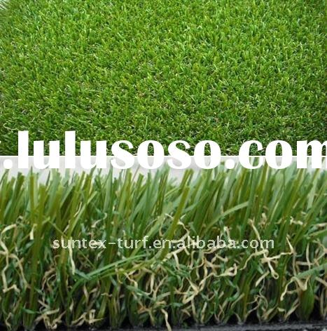 landscaping artificial grass in garden and bacony