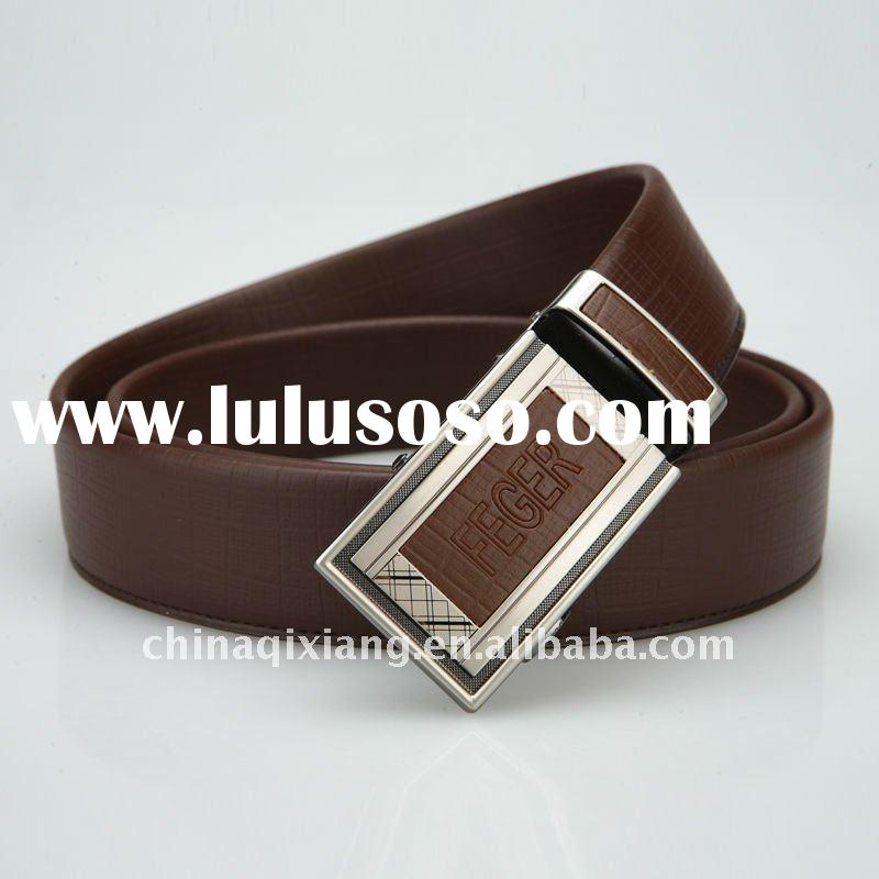 men automatic buckle leather belt