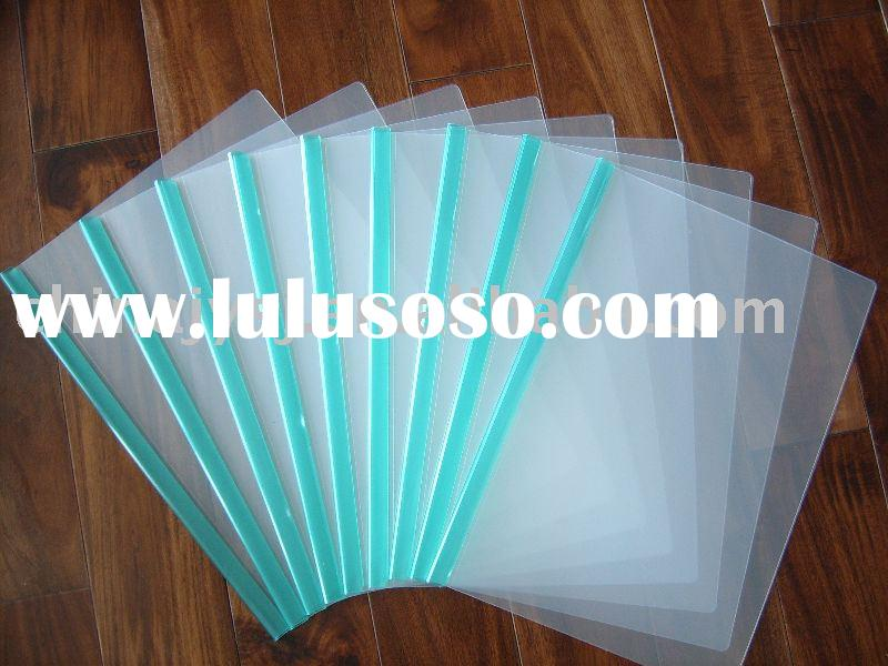 paper file (document holder) with transparent colored