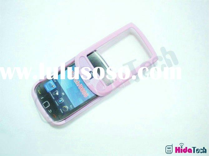 pink silicon cases for BB 9800 torch,for blackberry 9800 torch soft rubber gel silicon case with sli