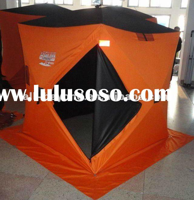 pop-up quick open 2-3 person 600D heavy duty ice fishing shelter