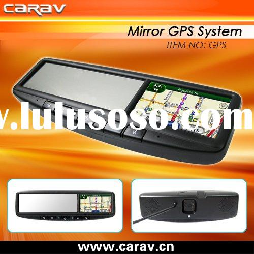 rearview mirror GPS-4.3 inch touch screen/bluetooth/3 video input/2GB memory