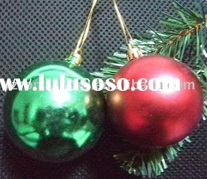 small plastic hanging christmas bauble for beer promotion
