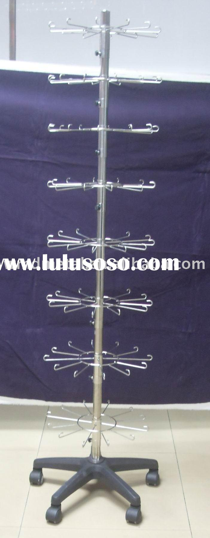 spinner-01 wire spinner,stainless steel display rack,rotating promotional stand