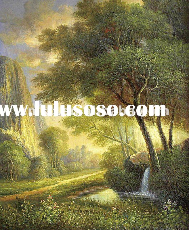 tree and mountain classical landscape oil painting