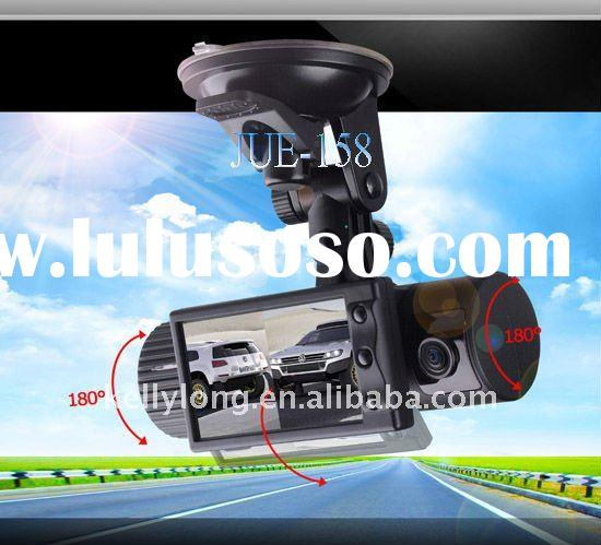 wide angle GPS car video recorder with dual camera and cheaper price