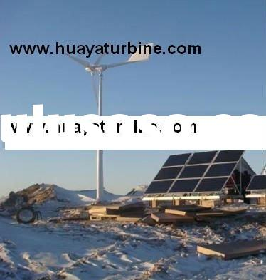 wind turbine and solar panel hybrid off grid working system